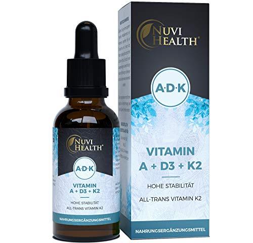 Vitamin A + D3 + K2 Tropfen - 50 ML - Premium: 99,7+% All-Trans (K2VITAL® von Kappa)...