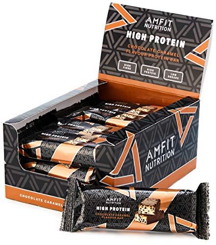 Amazon-Marke: Amfit Nutrition Proteinriegel mit niedrigem Zuckergehalt (19,6gr...