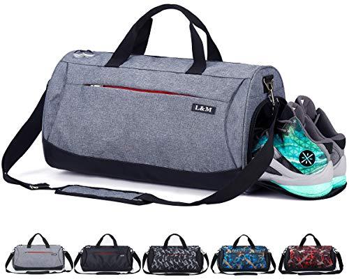 CoCoMall, Sporttasche mit Schuhfach und Nasstasche, Reisetasche für Damen und Herren...