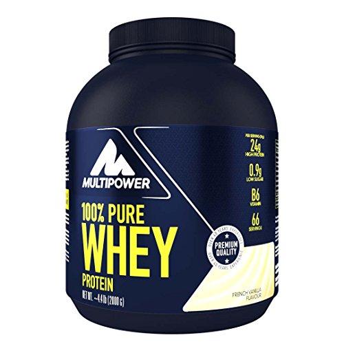 Multipower 100% Pure Whey Protein – wasserlösliches Proteinpulver mit Vanille...
