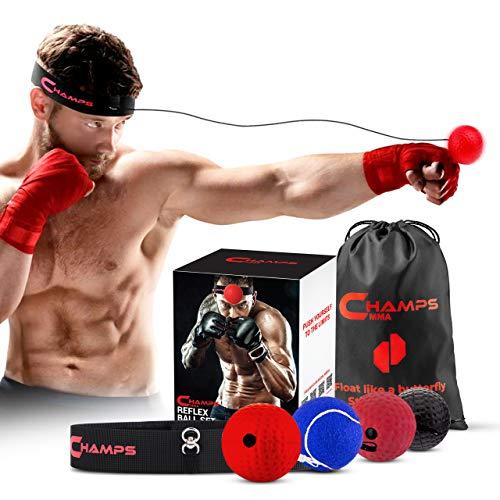 Champs MMA Box-Reflex-Ball - Box-Trainingsball - Verbessert die Reflexe,...