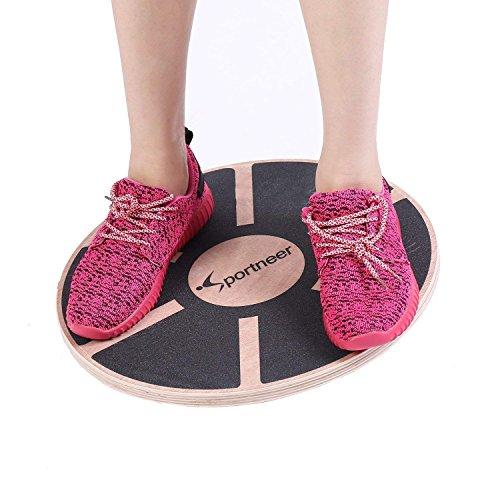Sportneer Wackelbrett Balance Board Holz Durchmesser 40cm Gleichgewicht Board-...