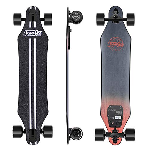 Teamgee H5 - Elektro Longboard Skateboard mit Fernbedienung, Ultra Dünn, Integrierte...