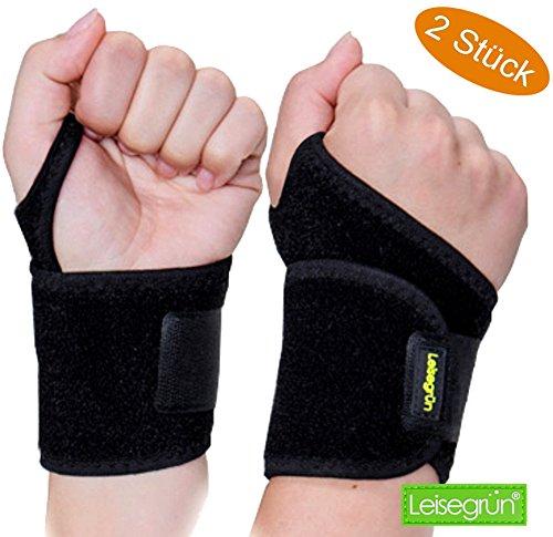 Sport Handgelenkbandage [2er Set] mit Klettverschluss. Handgelenkschoner für...
