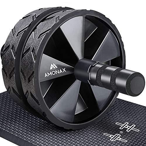 Amonax Bauchroller, bauchtrainer ab roller, bauchmuskeltrainer ab wheel set, mit...