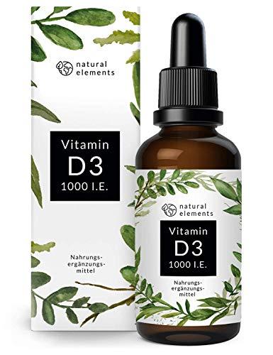 Vitamin D3-1000 I.E. pro Tropfen - 50ml (1750 Tropfen) - In MCT-Öl aus Kokos -...