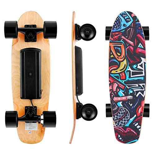 WOOKRAYS Elektrisches Skateboard mit Funkfernbedienung Elektro Skateboard -20km/h...