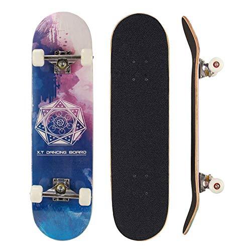 Sumeber Skateboard für Anfänger, Geburtstagsgeschenk für Teenager und Erwachsene...
