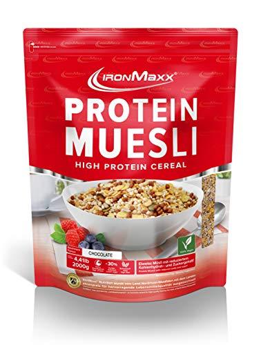 IronMaxx Protein Müsli Schokolade - Veganes Fitness Müsli laktosefrei und...