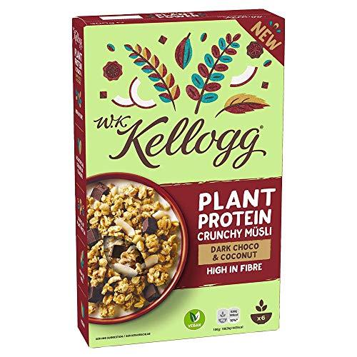 W.K. Kellogg Crunchy Müsli Plant Protein | Protein Müsli | Einzelpackung (1 x 300g)