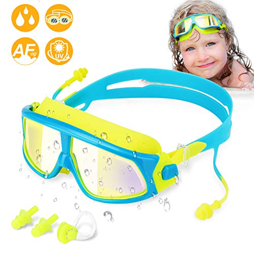 WOTEK Kinder Schwimmbrillen Schwimmbrille für Kinder Taucherbrille Swimming Goggles...