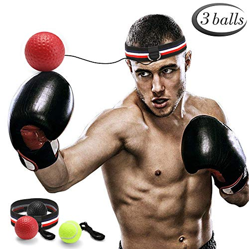 GEYUEYA Home Boxen Training Ball, Reflex Fightball, Punch Boxing Ball mit...