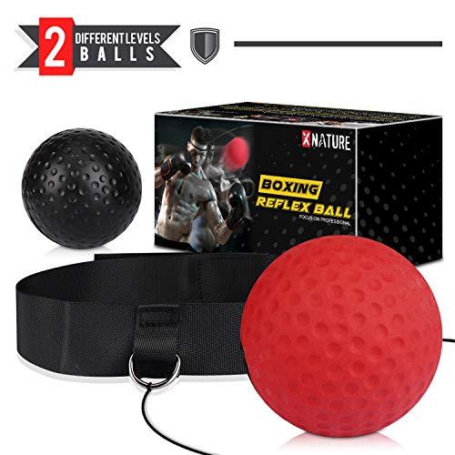 Xnature Boxen Training Ball Reflex Fightball Speed Fitness Punch Boxing Ball mit...