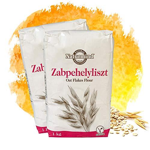 Naturmind Hafermehl 2x1000g | Oat Flour | VEGAN | feine Mehlmischung | 100%...