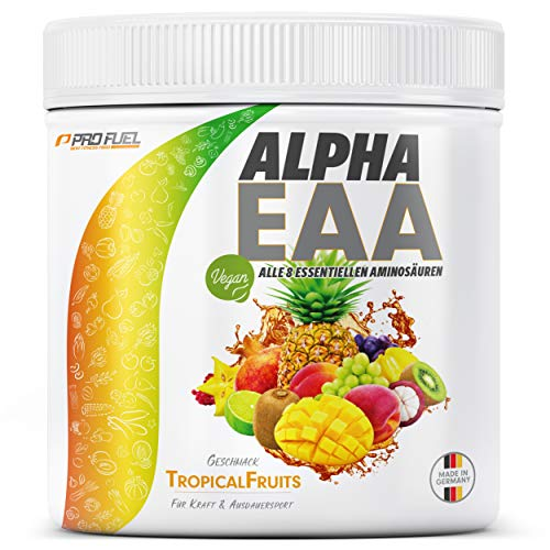 ALPHA EAA Pulver 462g | Alle 8 essentiellen Aminosäuren | Vegan EAAs Aminosäuren...