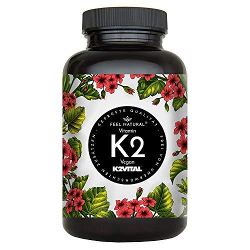 Vitamin K2 MK7-365 Kapseln. Hochdosiert mit 200µg (mcg) je Kapsel. Spitzenrohstoff...
