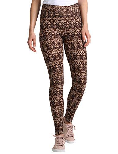 Berydale Damen Slim Legging BD313, Mehrfarbig (Braun/Beige), M