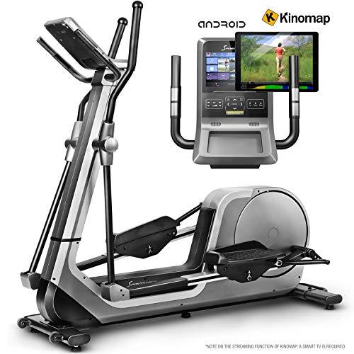 Sportstech LCX800 Crosstrainer mit Edler Android-Multifunktionskonsole, 24Kg Schwungmasse, Smartphone App, Bluetooth-& Pulsgurtkompatibel, 12 Trainingsprogramme, HRC + Tablet-Halterung (LCX800_)