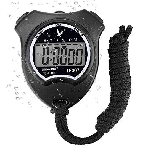 Digital Sport Stoppuhr Timer, Handheld Chronograph Digital Uhren Stoppuhr mit...
