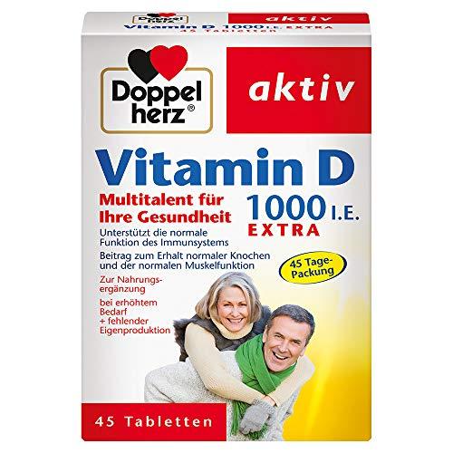 Doppelherz Vitamin D 1000 – Mit Vitamin D als Beitrag zur normalen Funktion des...