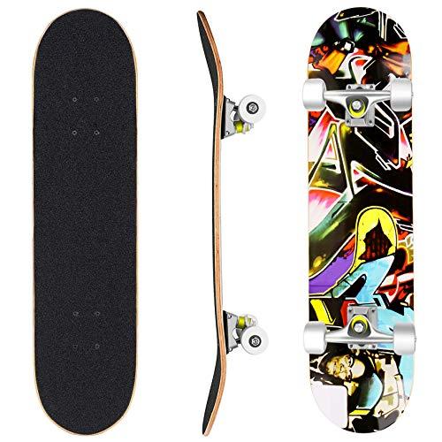 WeSkate Skateboard Komplett Board 79x20cm Holzboard ABEC-7 Kugellager 31 Zoll...