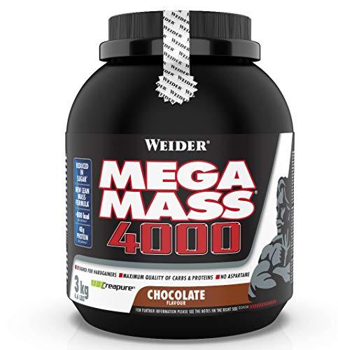 Weider Mega Mass 4000 Weight Gainer Shake mit Protein und Kreatin, Schoko,...