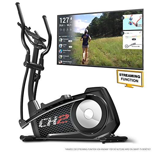 Sportstech CX2 Crosstrainer- Deutsche Qualitätsmarke -Video Events & Multiplayer APP & integriertem Stromgenerator - Ellipsentrainer mit Konsole und Tablet-Halterung, Ergometer mit 27 Kg Schwungmasse