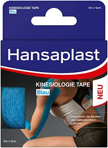 Hansaplast Kinesiologie Tape, wasserfestes Sporttape lindert Muskelschmerzen und...