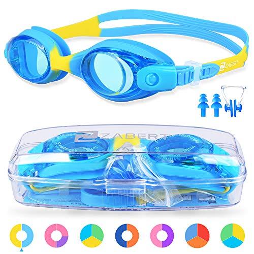 ZABERT Schwimmbrille für Kinder, K1 Schwimmbrillen Kinderschwimmbrille Chlorbrille...