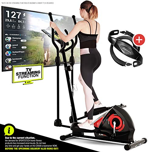 Sportstech CX608 Crosstrainer - Deutsche Qualitätsmarke - Video Events & Multiplayer...