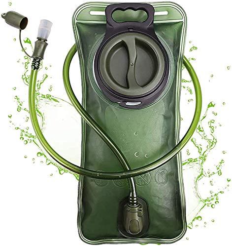 PUNDA Premium Trinkblase 2L mit Beissventil - A-frei, antibakteriell und...