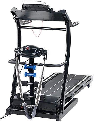 newgen medicals Laufbahn: 2in1-Profi-Laufband mit Fitness-Station und Bandmassagegerät (Fitnessgerät)
