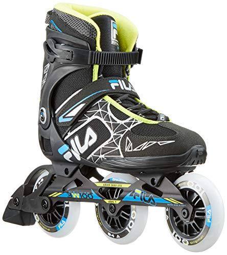 FILA Herren Legacy Pro 100 Inline Skate, schwarz/blau/Lime, 9