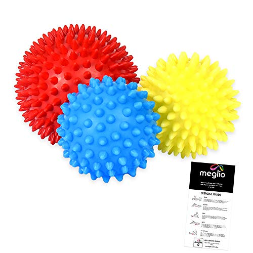 meglio Igelball Massageball 3er Set – Noppenball perfekt für den Stress...