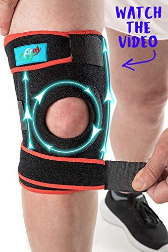 FitFitaly XL Kniebandage für Patella, Meniskus und Bänder - Verstellbarer...