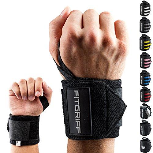 Fitgriff® Handgelenk Bandagen [Wrist Wraps] 45cm Handgelenkbandage für Fitness,...