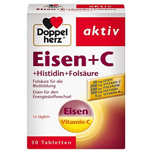 Doppelherz Eisen + C + Histidin + Folsäure – Eisen unterstützt die normale...