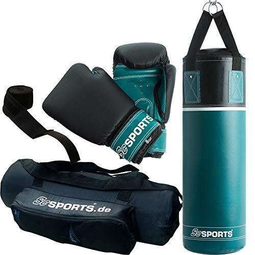 ScSPORTS Boxsack-Set, für Kinder und Jugendliche, Box-Set mit Boxhandschuhen,...