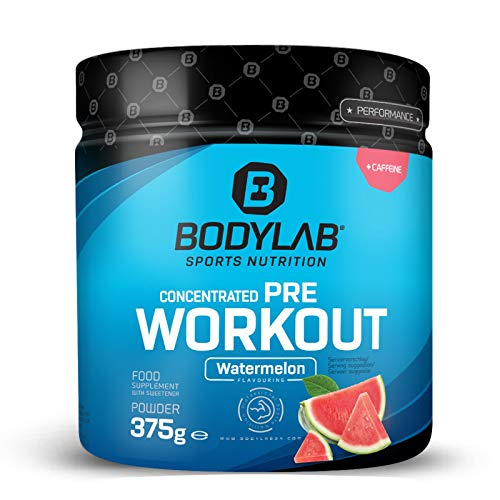 Bodylab24 Concentrated Pre-Workout Booster Wassermelone 375g, Energy-Booster mit...