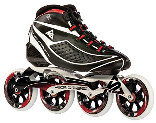 K2 Inline Skates PRO LONGMOUNT Für Erwachsene Mit K2 Softboot, Black - Red - White,...