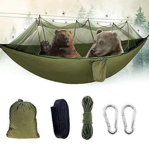 Sporgo Hängematte,Camping Hängematte Outdoor mit Moskitonetz Tragfähigkeit...