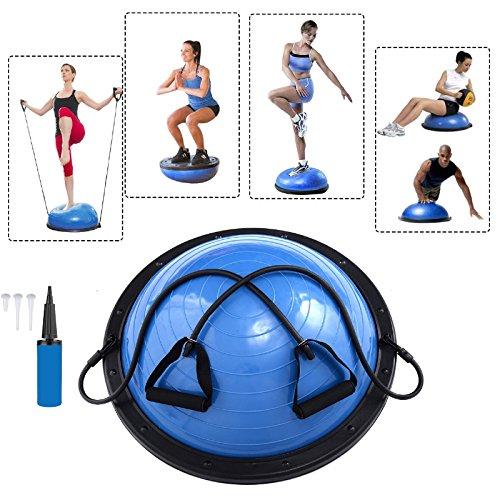 Baumarktplus Yoga Gymnastik Balance Half Ball Trainingsball Gymnastikball Pink Blau...