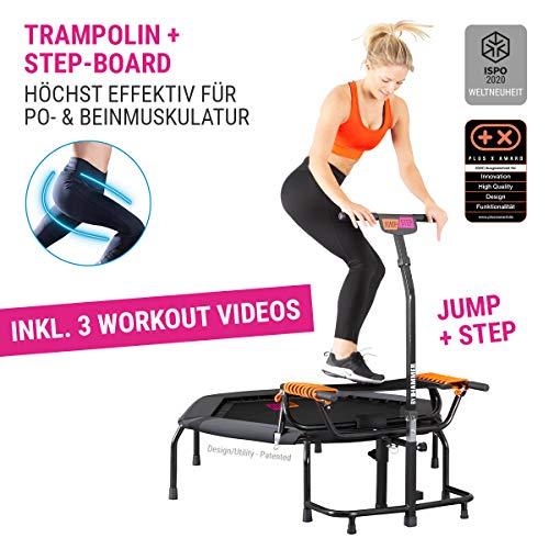 HAMMER Fitness-Trampolin JumpStep, Flexibles und gelenkschonendes Step-Board,...