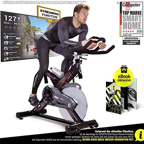 Sportstech Profi Indoor Cycle SX400 –Deutsche Qualitätsmarke-mit Video Events &...