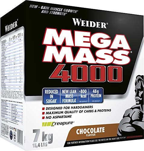 Weider Mega Mass 4000 Weight Gainer Shake mit Protein & Kreatin, Schoko,...