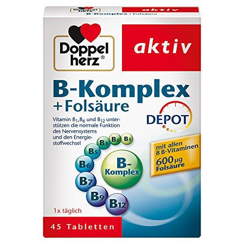 Doppelherz B-Komplex DEPOT mit Folsäure – B-Vitamine als Beitrag für die normale...