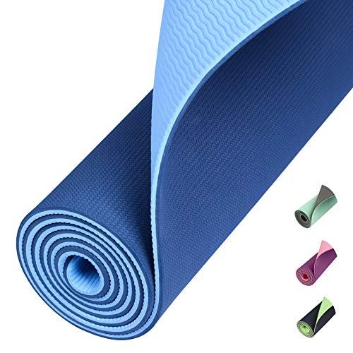 Amazon Brand – Eono TPE Yogamatte rutschfest Gymnastikmatte Pilates Matte...