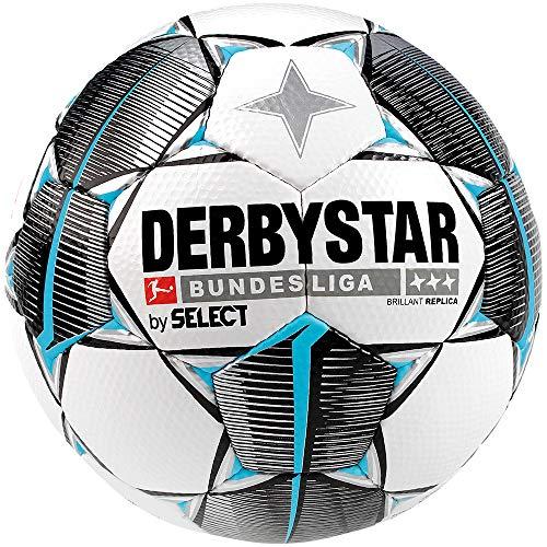Derbystar Unisex Erwachsene Bundesliga Brillant Replica Fußball, Weiss Schwarz...