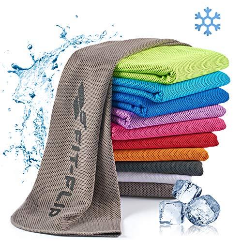 Fit-Flip Kühlendes Handtuch 100x30cm, Mikrofaser Sporthandtuch kühlend, Kühltuch,...