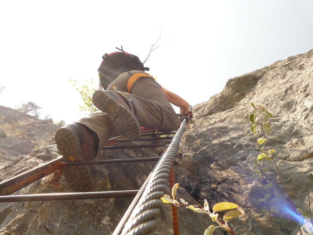 Klettergurt Bindung Seil Kletterer